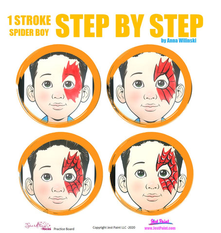 Spiderman Face Paint Ideas Step by Step Tutorial