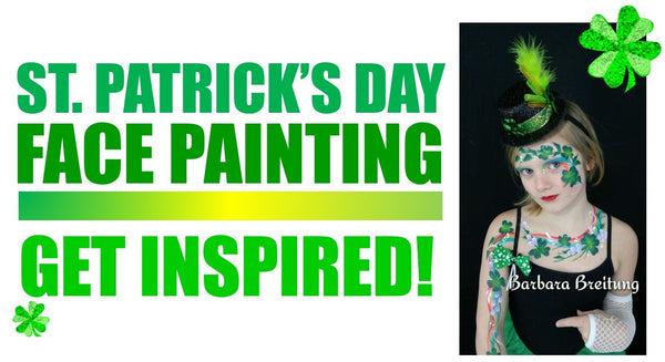 Face Painting Saint Patricks day Barbara Breitung