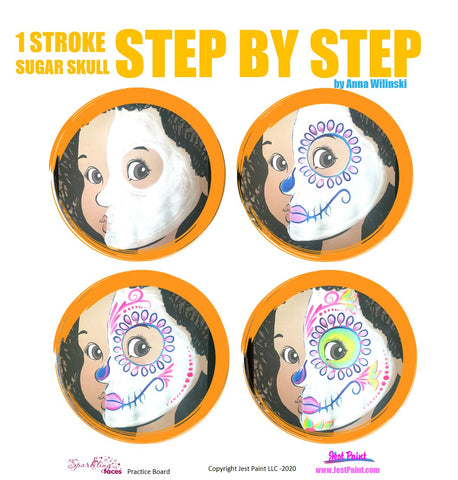 Sugar Skull Face Painting Step by Step Tutorial