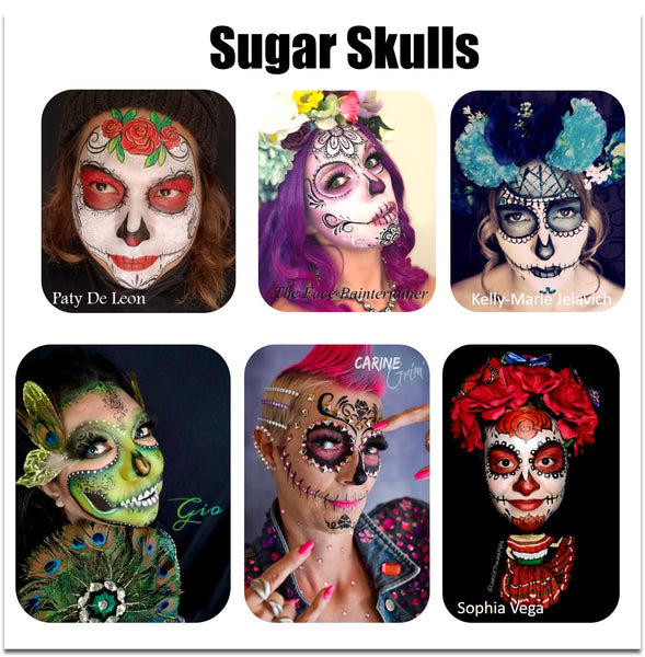 sugar skull catrina makeup face paint halloween makeup