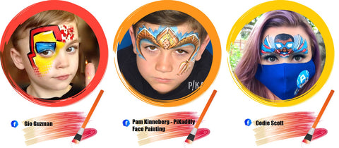 Super Hero Face Paint Ideas