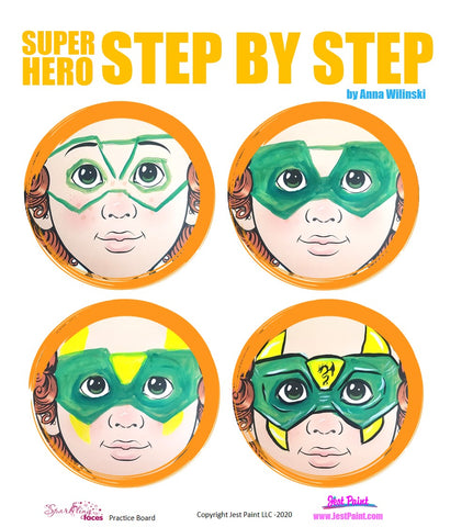 Super Hero Face Painting Step by Step Tutorial