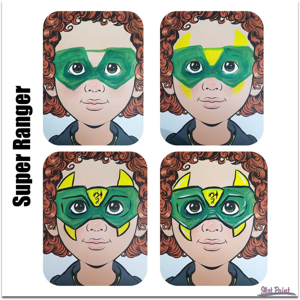 power ranger style face paint design