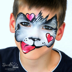 Svetlana keller heart puppy face painting