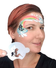 Stencil TAP Fairy face painting design by Anna Wilinski