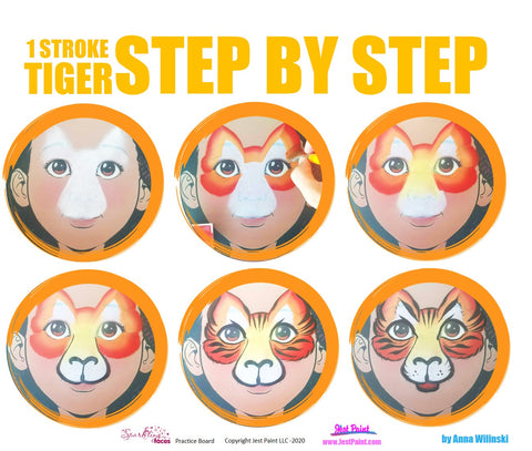 Tiger Face Painting Step by Step