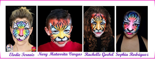 wild animals face painting ideas