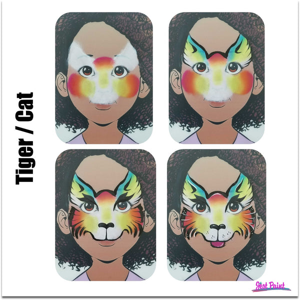 face paint step by step tutorial face paint tiger cat