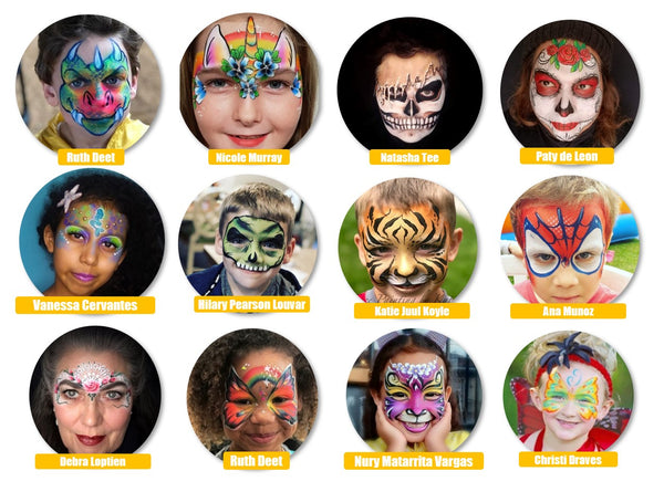 Top 12 face painting designs