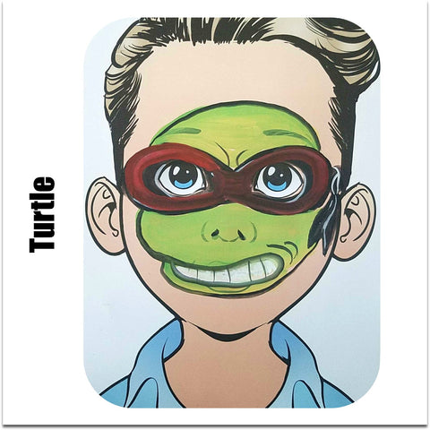 face paint step by step tutorial face paint design ninja turtle