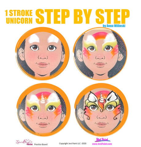 Unicorn Face Paint Ideas Step by Step Tutorial