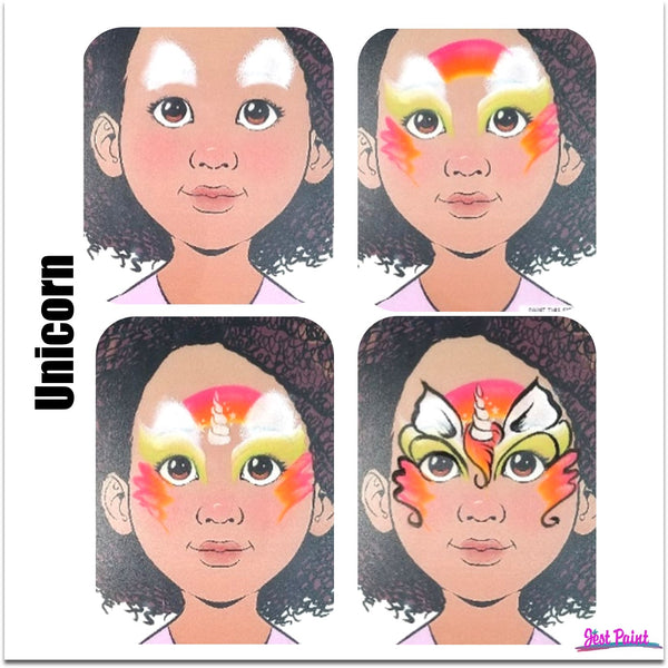 unicorn face paint design