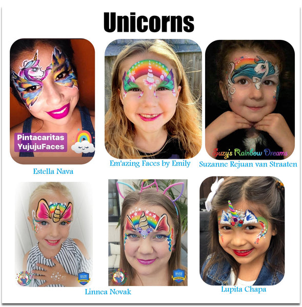 unicorn ideas face painting makeup