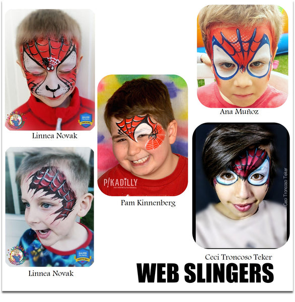 Spidy face painting spider man face paint makeup halloween