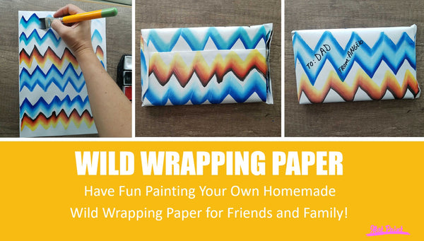 DIY Wrapping Paper - Covid-19 Coronavirus Crafts for Kids Face Paint