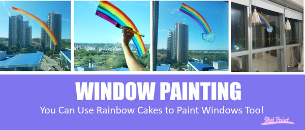 Window Painting Rainbows Covid-19 Coronavirus Stay Home Stay Safe Face Paint