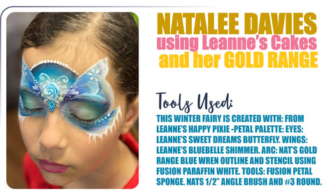 Nat Davies designs combining her gold range palette and Leanne's Palettes