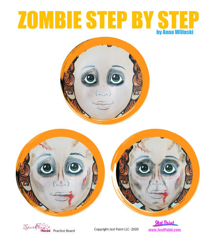 Zombie Face Painting Step by Step Tutorial