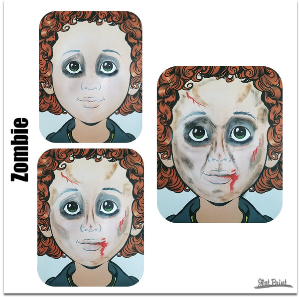 face paint step by step tutorial face paint zombie