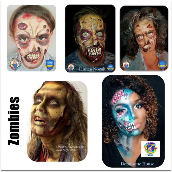 zombie face paint makeup