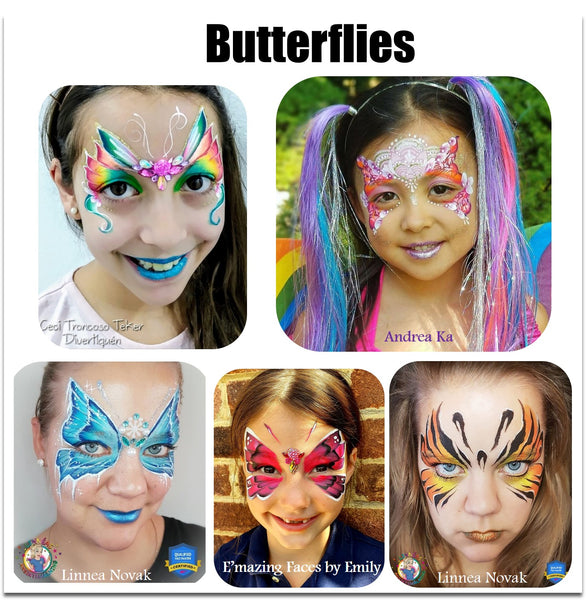 butterfly face paint make up designs halloween