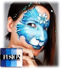 fusion frozen shimmer face paint cat