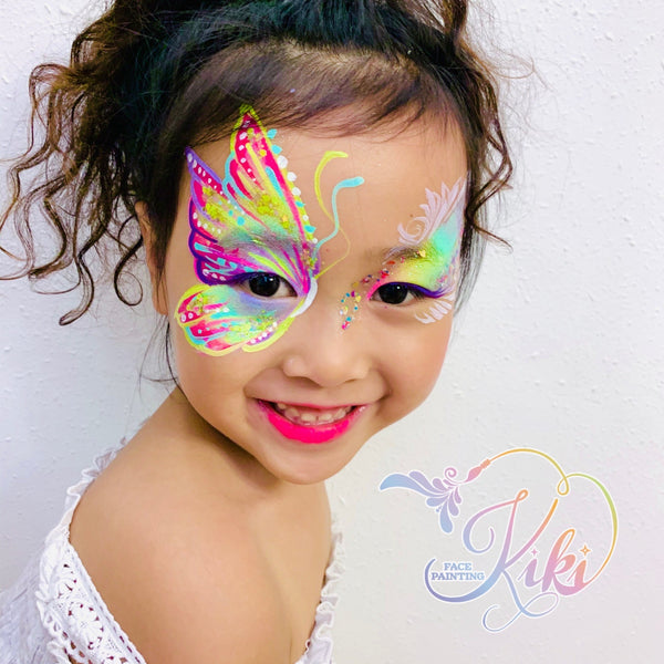 Kiki Iwata face painting butterfly
