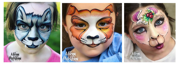 Milena Potekhina animal face painting