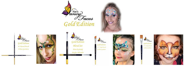 Nats Gold Edition Brushes face painting natalee davies