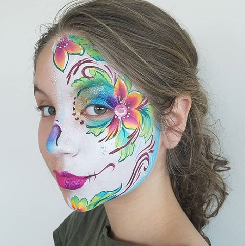 Annas Sugar Skulla Make up on Oceana Massano