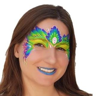 Anna Peacock Face Painting Design