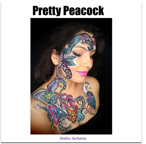 peacock body painting