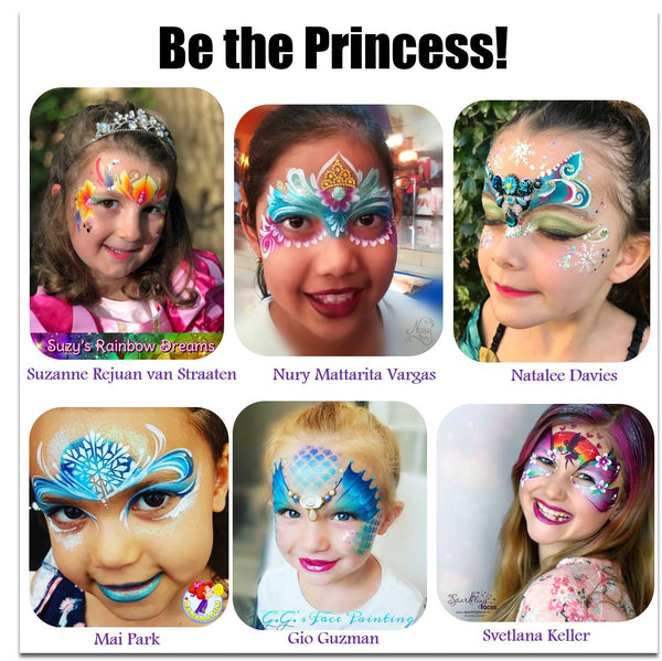 Princess face painting ideas for girls halloween makeup