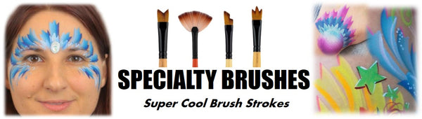 specialty face paint brushes dynasty black gold
