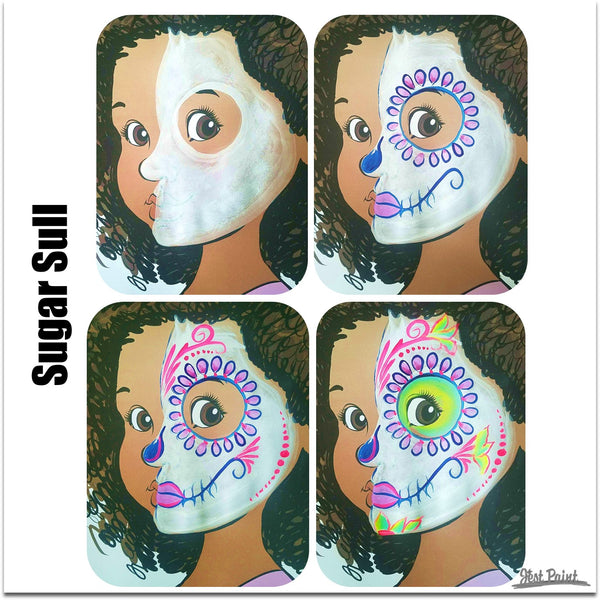 Sugar skull Face Paint Jest Paint Step by Step Tutorial face paint