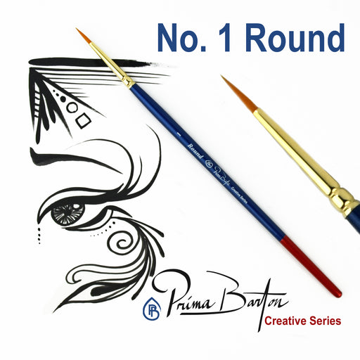 Prima Barton | Creative Series Face Painting Brush - Round #1 - Jest Paint Store