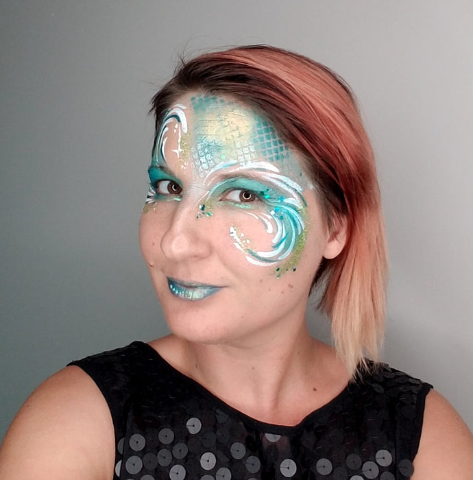 TAP 059 Face Painting Stencil - Fish Scales - Jest Paint Store
