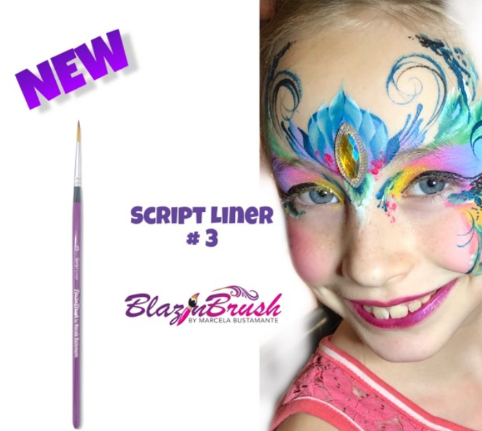 new blazin Brushes Fairy face painting by Marcela Bustamante
