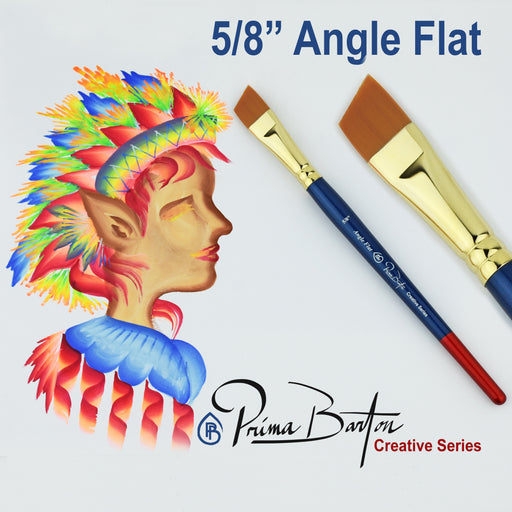 "Prima Barton | Creative Series Face Painting Brush - 5/8"" Angle Flat - Jest Paint Store"
