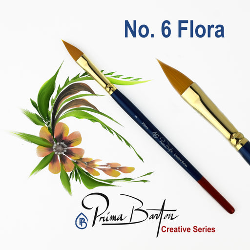 Prima Barton | Creative Series Face Painting Brush - Flora #6 - Jest Paint Store