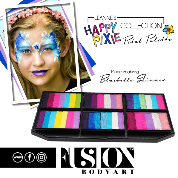Fusion Body Art  - Petal Palette | Leanne's Happy Pixie Bluebelle Shimmer