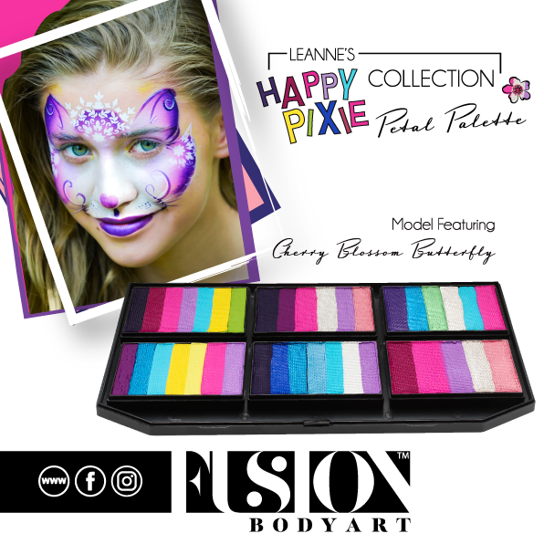 Fusion Body Art  - Petal Palette | Leanne's Happy Pixie Cherry Blossom Butterfly