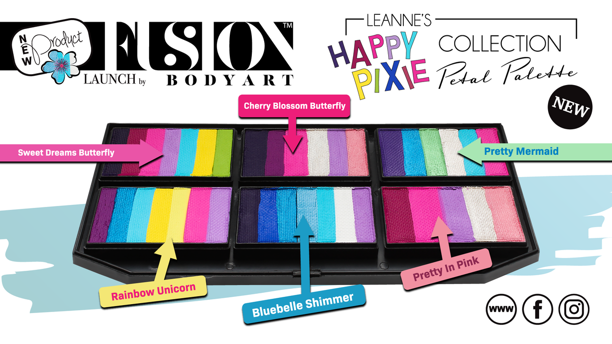 Fusion Body Art  - Petal Palette | Leanne's Happy Pixie names