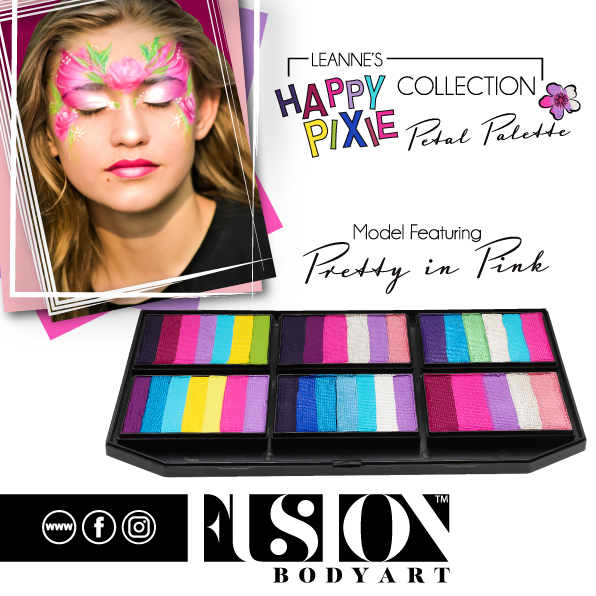 Fusion Body Art  - Petal Palette | Leanne's Happy Pixie Pretty In Pink