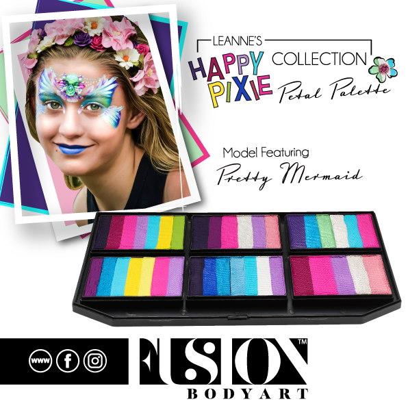 Fusion Body Art  - Petal Palette | Leanne's Happy Pixie Pretty Mermaid