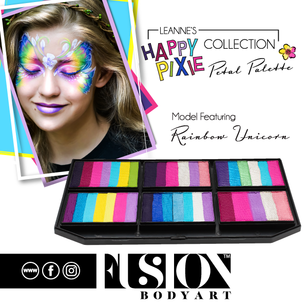 Fusion Body Art  - Petal Palette | Leanne's Happy Pixie Rainbow Unicorn