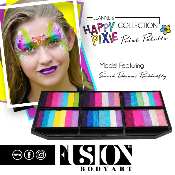 Fusion Body Art  - Petal Palette | Leanne's Happy Pixie Sweet Dreams Butterfly