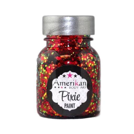 Pixie Paint Face Paint Glitter Gel  - Drop Dead Red -  Small 1oz
