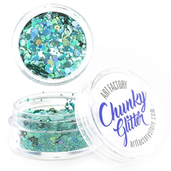 Art Factory | Loose Chunky Glitter - Blue Lagoon (10ml jar) - Jest Paint Store