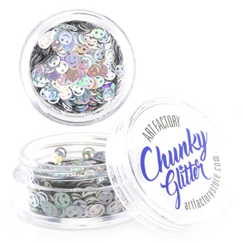Art Factory | Loose Chunky Glitter - Emoji Face (10ml jar)